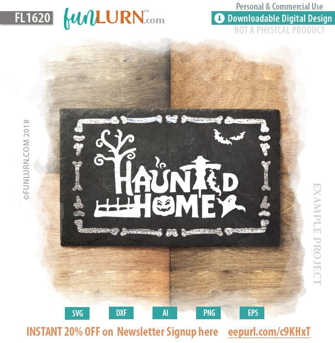 Haunted Home Sign Svg Funlurn