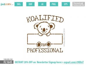 Koalified blank Professional SVG cut file