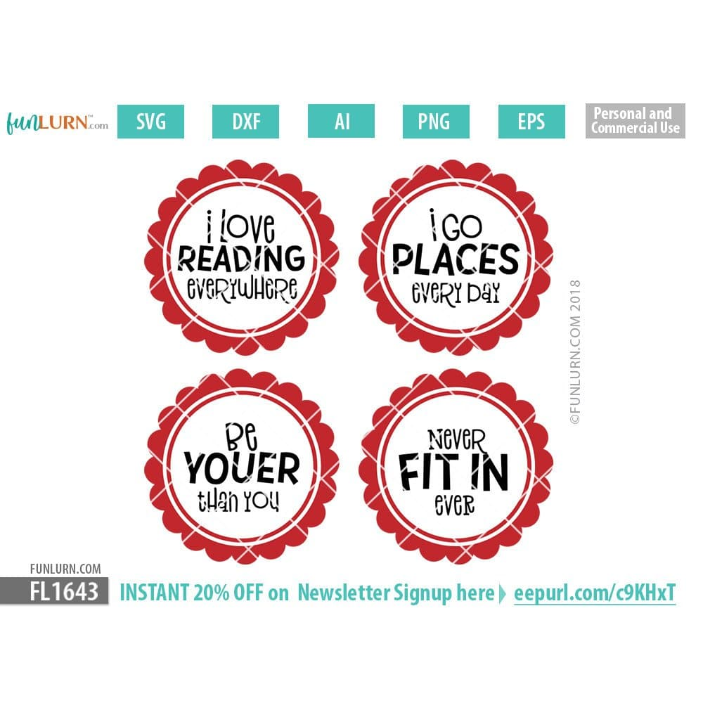 School quotes SVG cut files