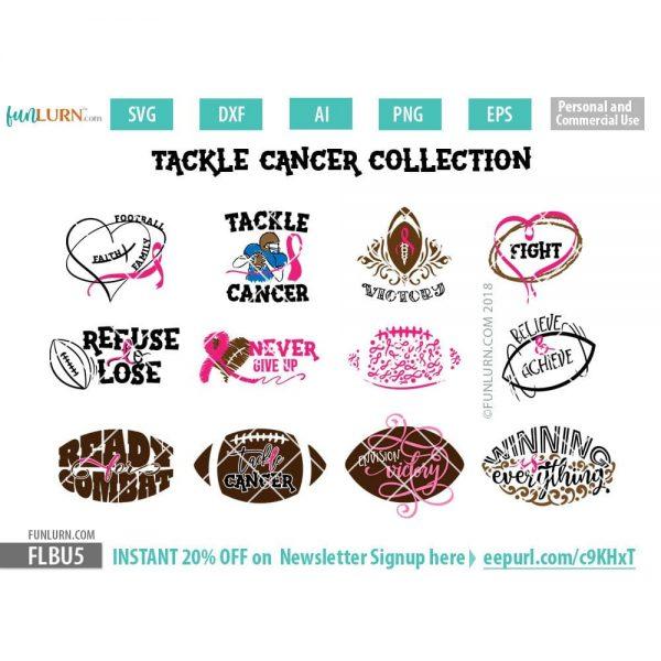 Tackle Cancer Collection SVG Bundle
