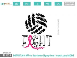 Fight Cancer Volleyball SVG