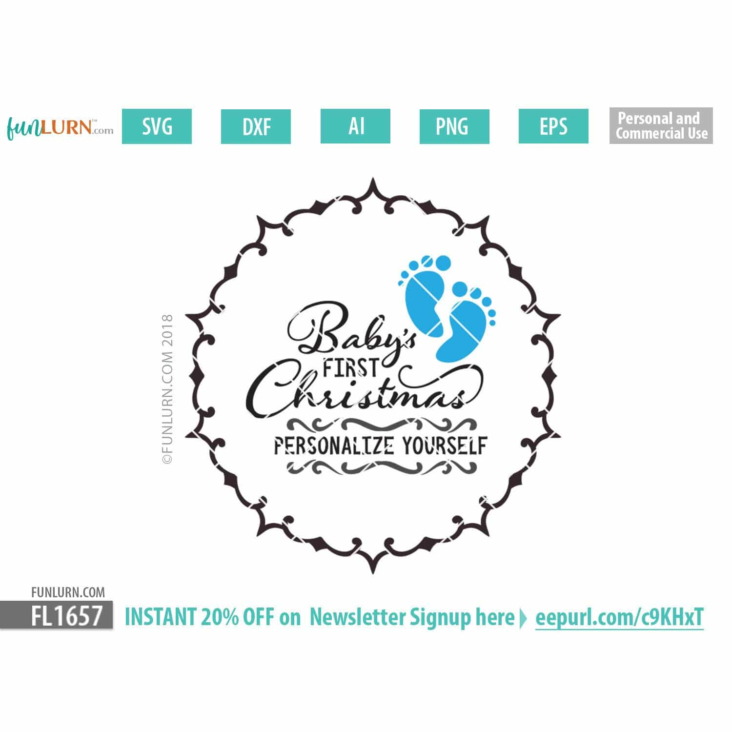 Baby S First Christmas Svg Funlurn