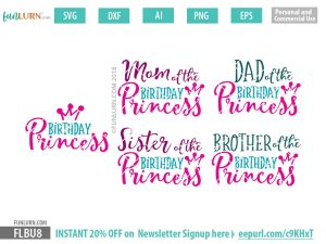 Birthday Princess SVG