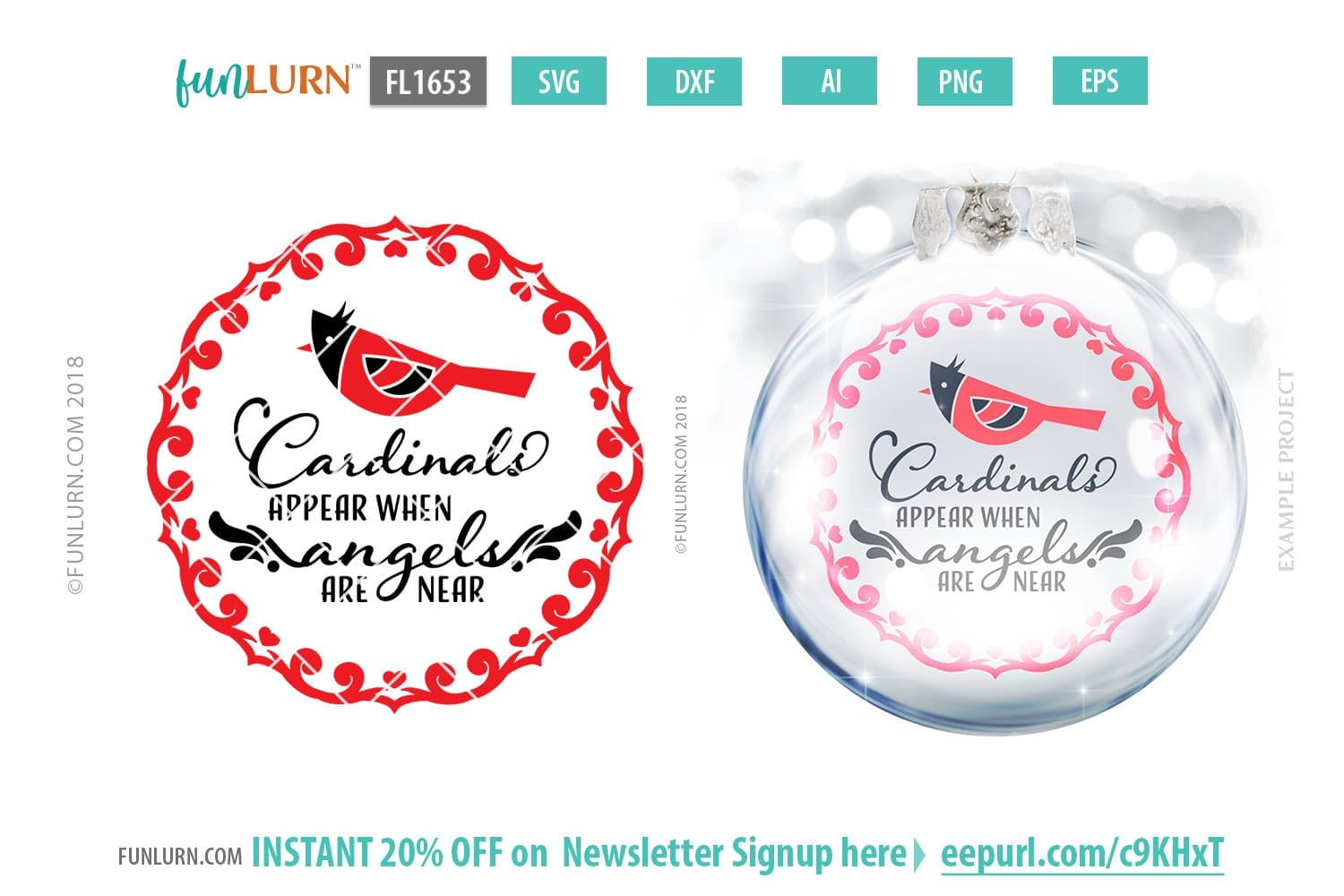 Cardinals Appear When Angels Are Near Svg Cut File Funlurn