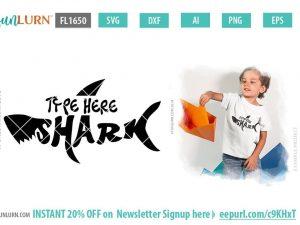 Custom Shark SVG,