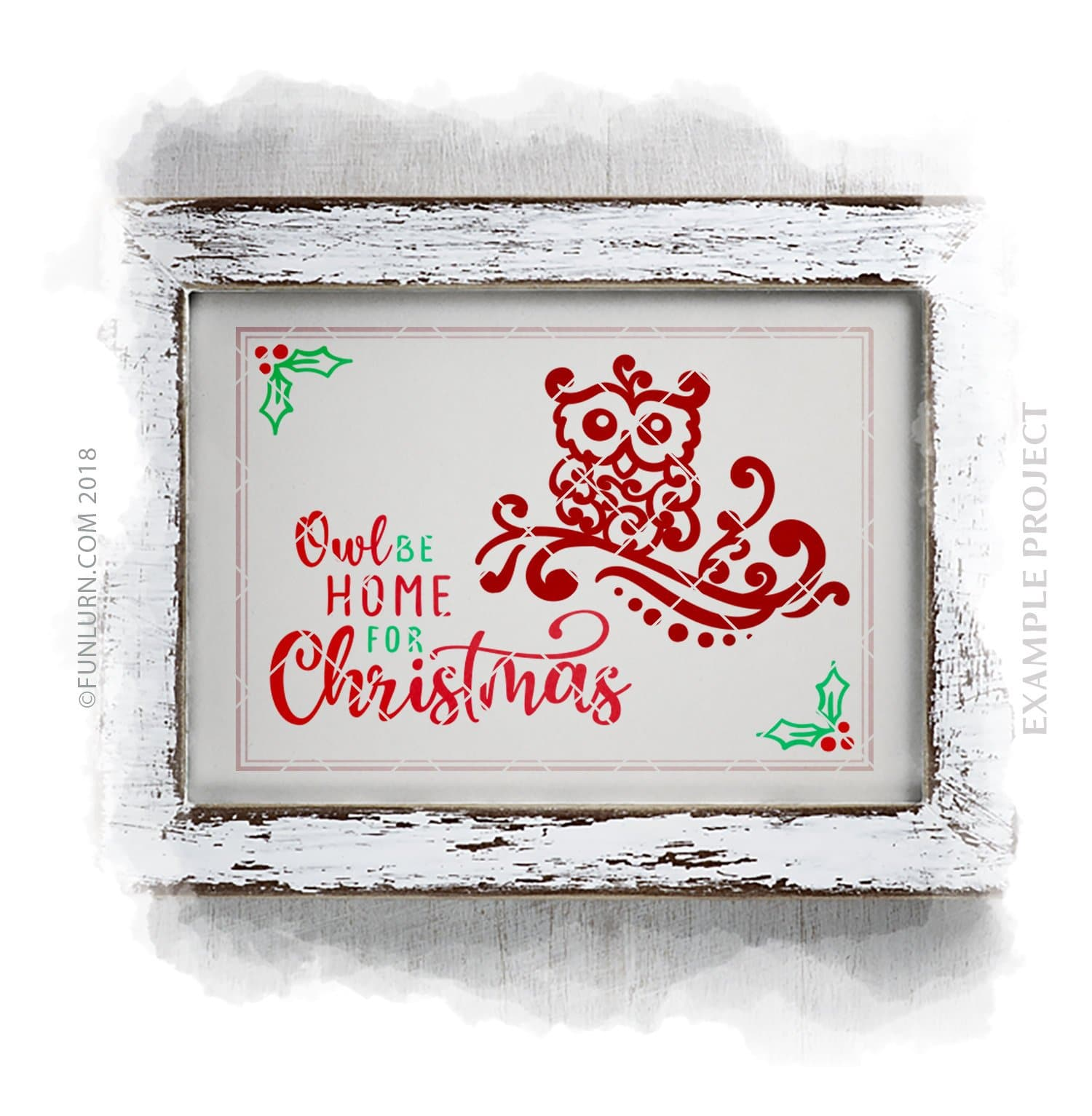 Owl Be Home For Christmas Svg Funlurn