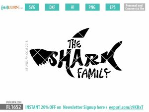The Shark Family SVG