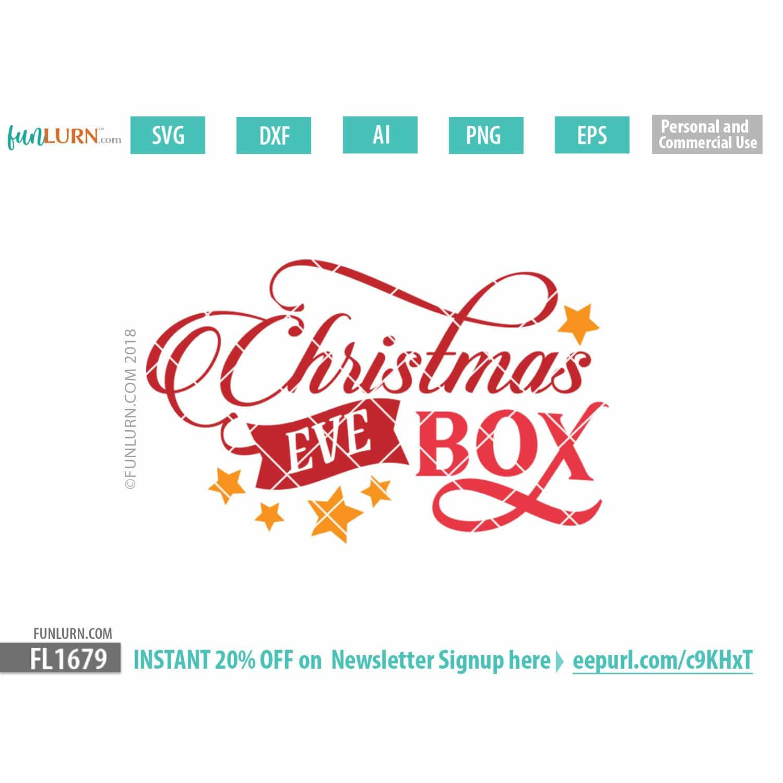 Christmas Eve Box SVG