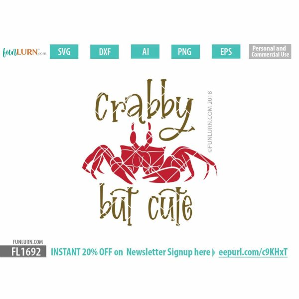 Crabby but cute SVG