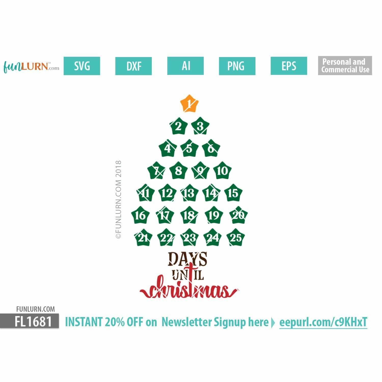Days Until Christmas.Days Until Christmas Svg Christmas Tree