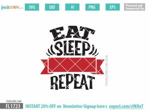 Eat sleep blank repeat svg