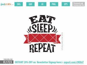 Eat sleep blank repeat svg