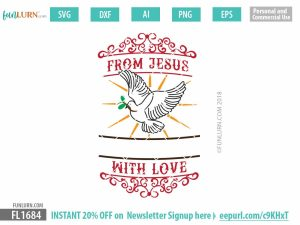 From Jesus with Love SVG