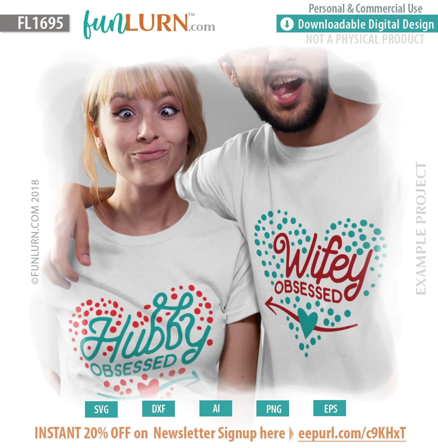 Hubby Obsessed Svg Wifey Obsessed Svg Valentine S Day Couple Shirt