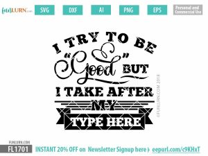 I try to be good but I take after my blank SVG