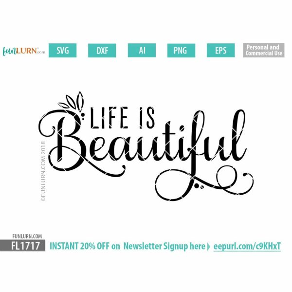 Life is beautiful SVG