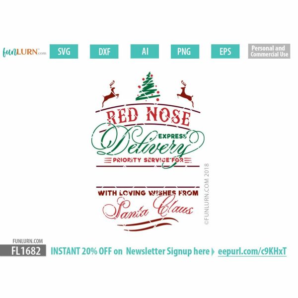 Red Nose express delivery SVG