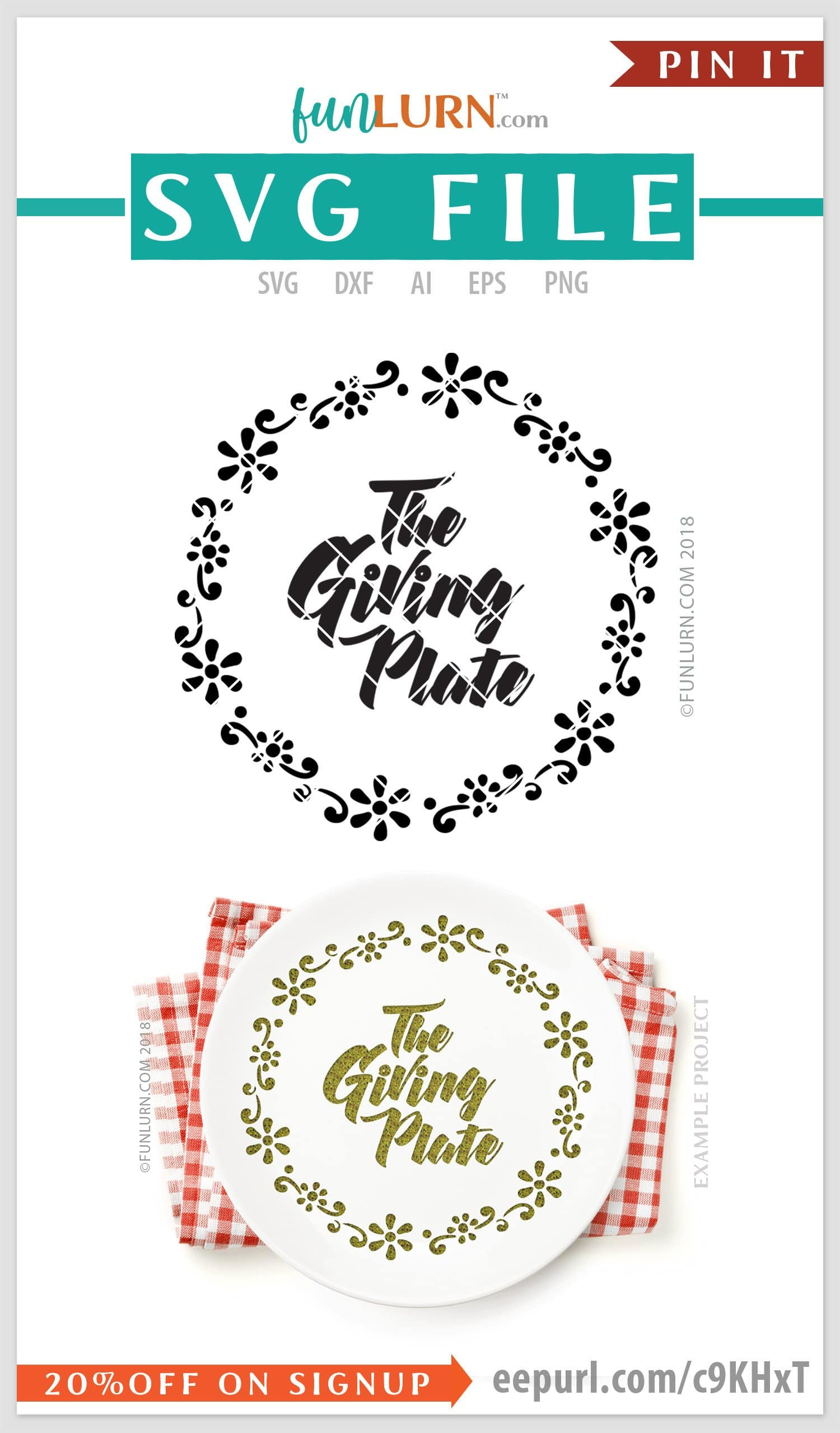 The Giving Plate Svg Simple Funlurn