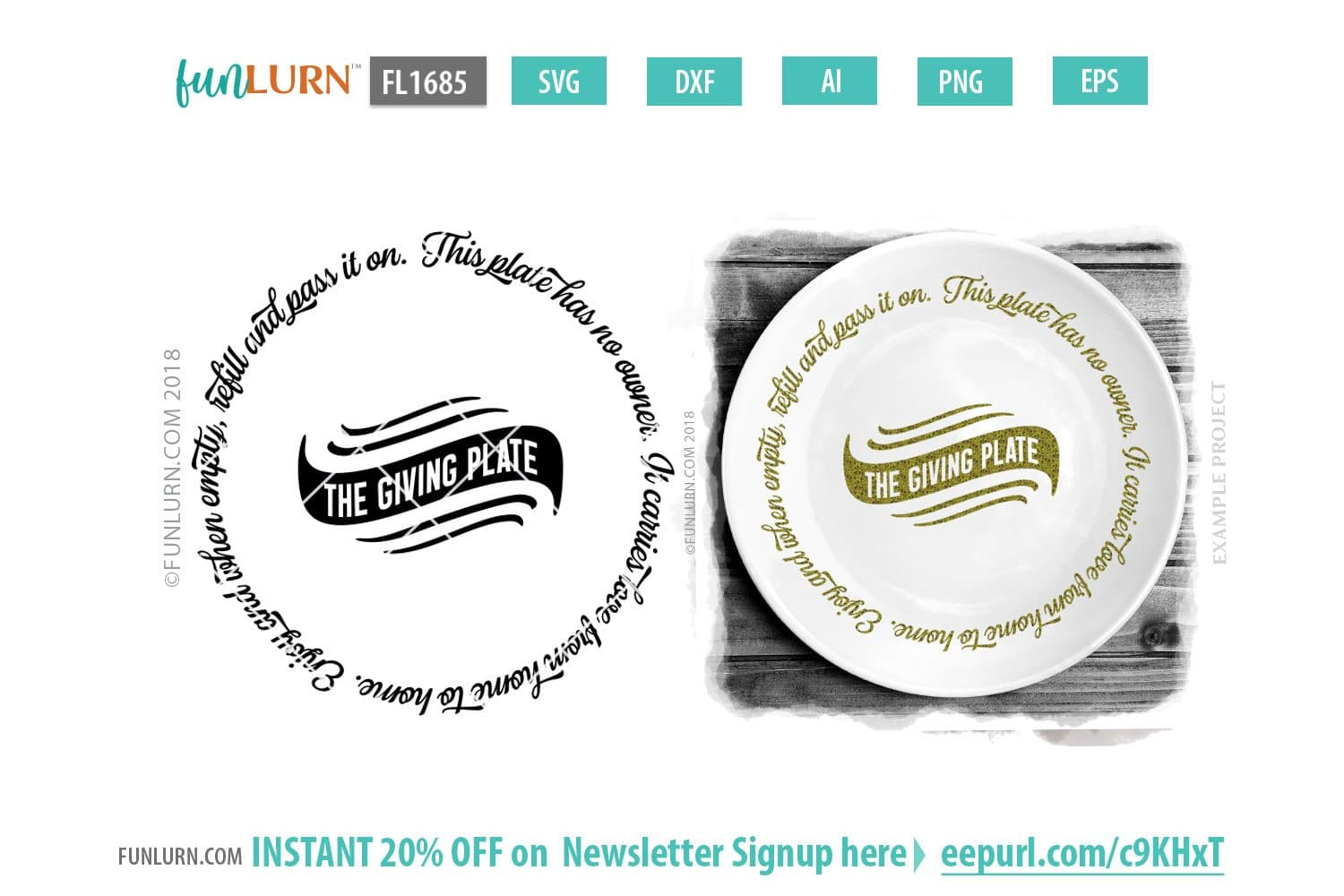 The Giving Plate Svg Circular Design Funlurn