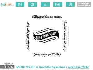 The Giving Plate SVG - Square Design