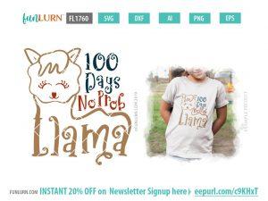 100 Days no Prob Llama SVG