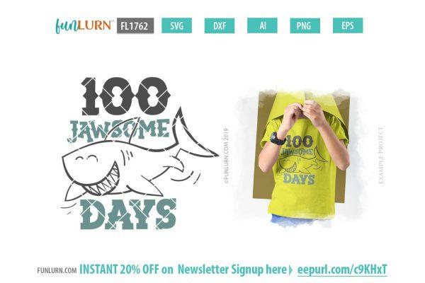 100 Jawsome Days SVG