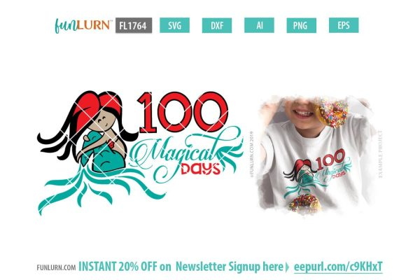 100 Magical Days SVG