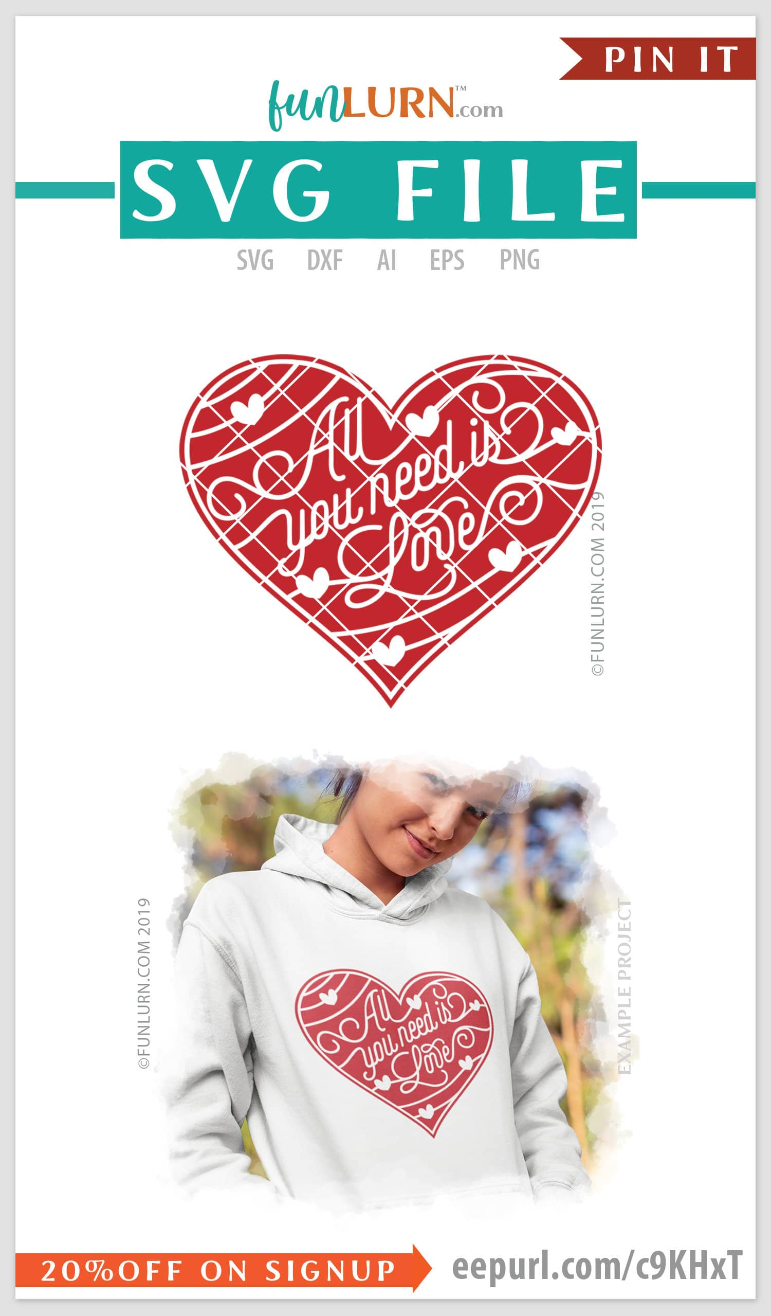 All You Need Is Love Svg Funlurn