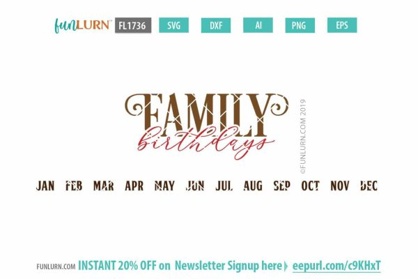 Family Birthdays SVG