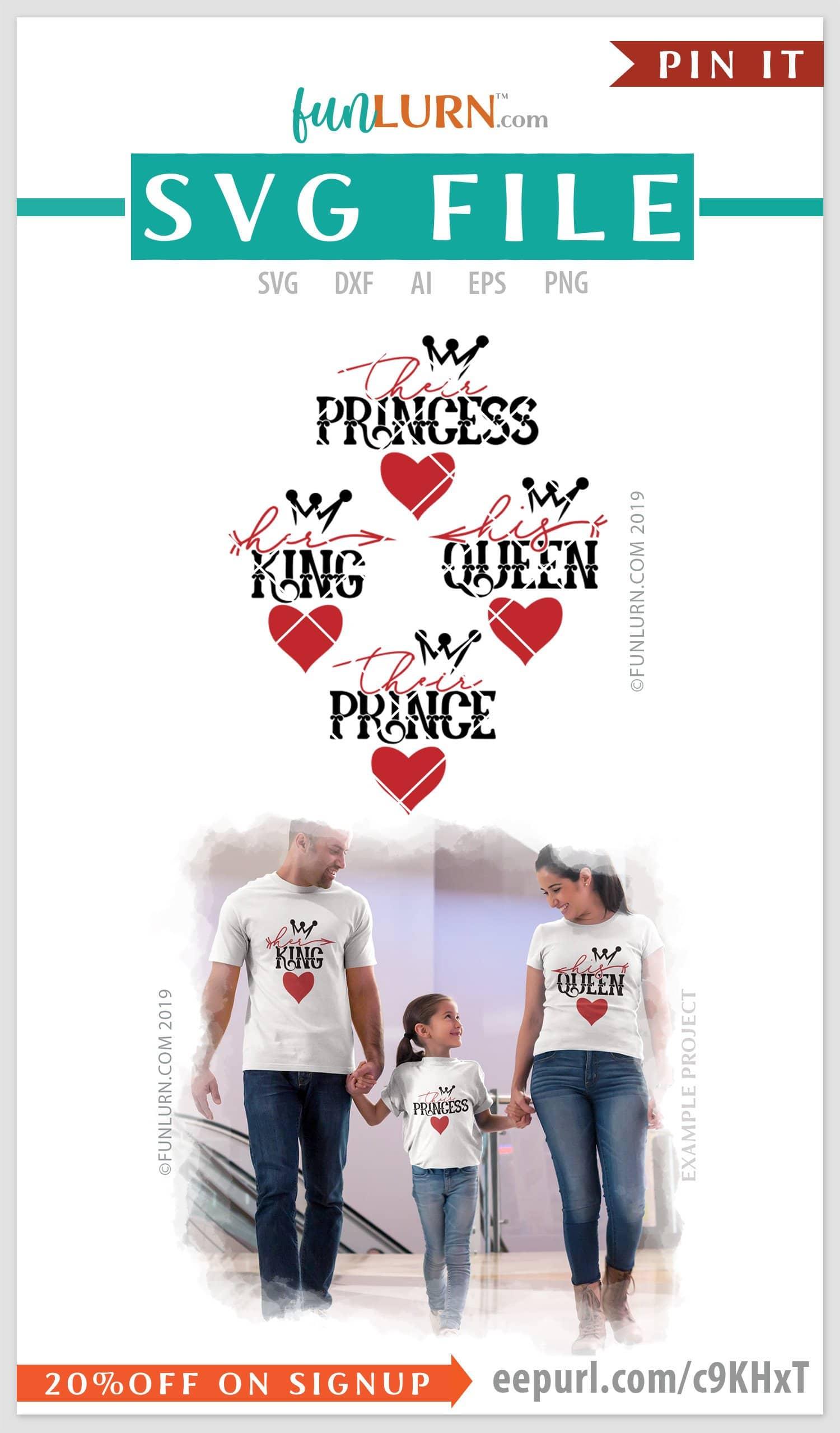 His Queen Her King Svg.Her King Svg His Queen Svg Their Prince Svg Their Princess Svg