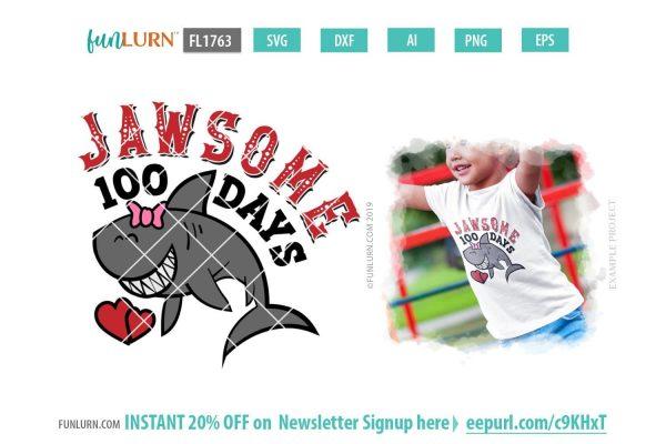 Jawsome 100 Days SVG
