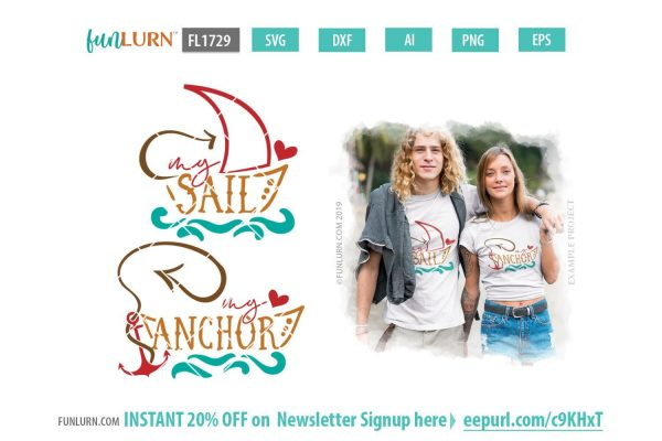 My Anchor SVG, My sail svg