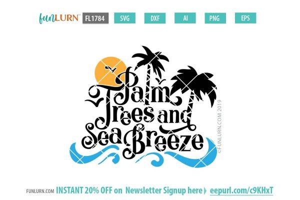 Palm trees and sea breeze