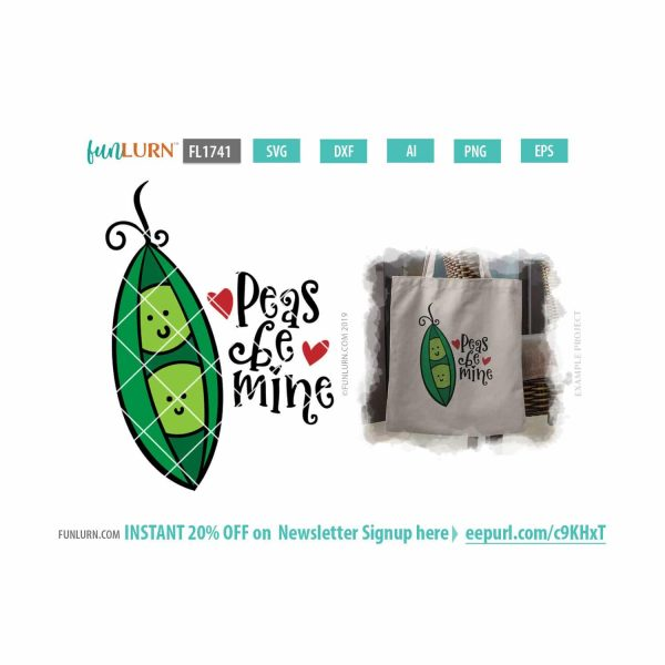 Peas be mine SVG