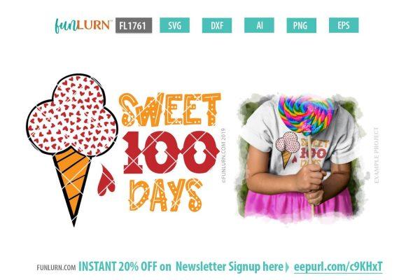 Sweet 100 days SVG
