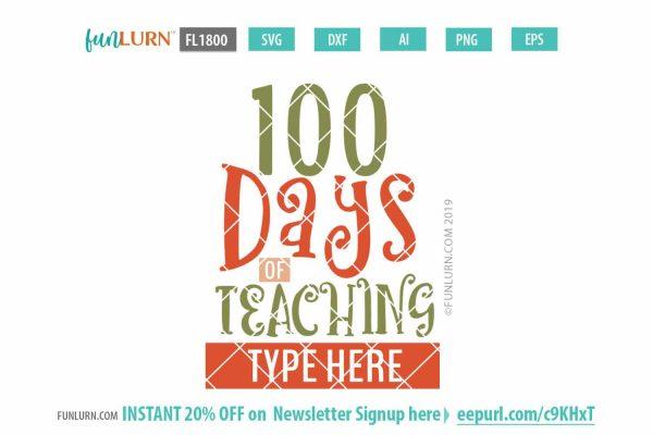 100 days of teaching