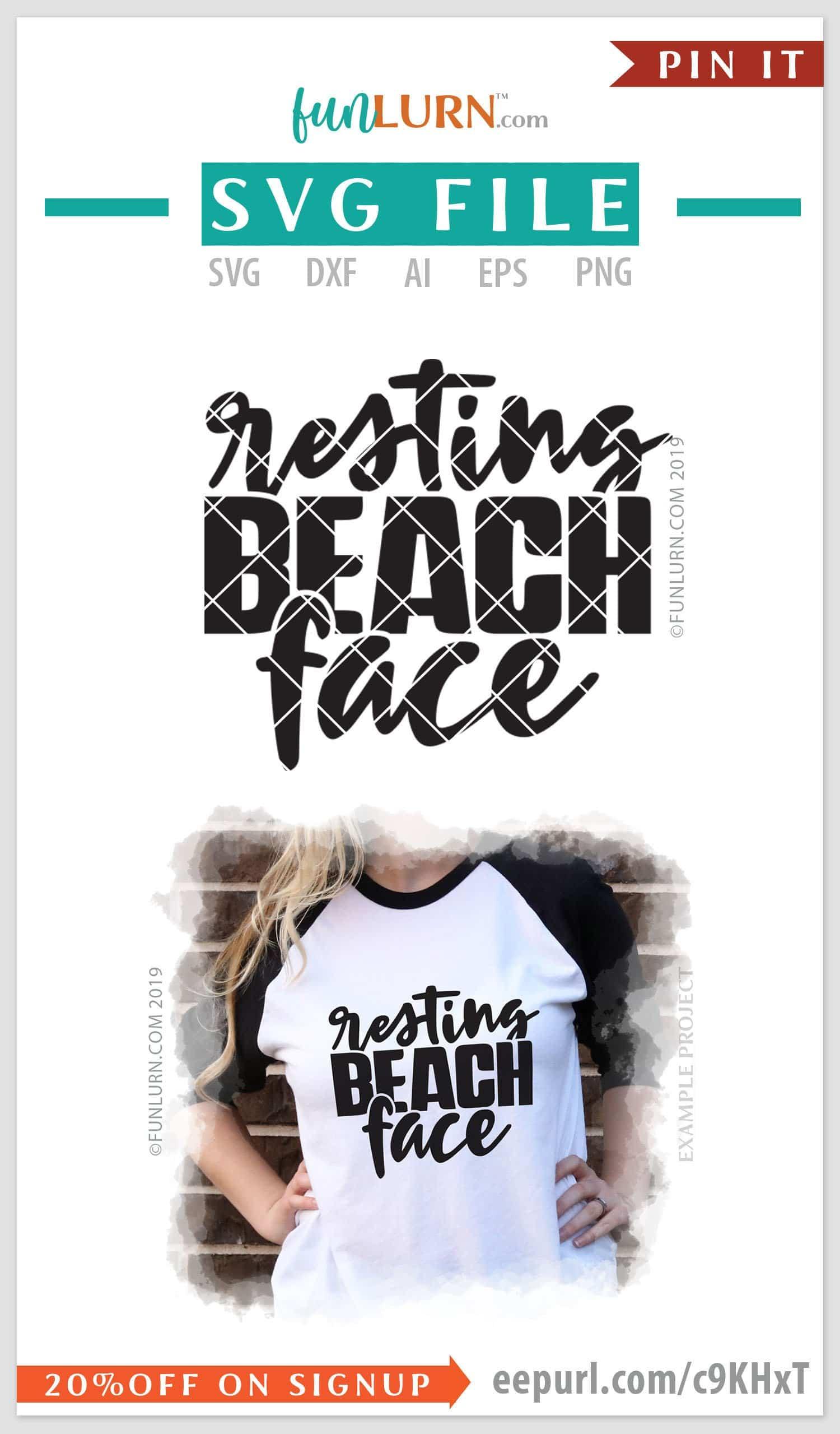 Resting Beach Face Funlurn