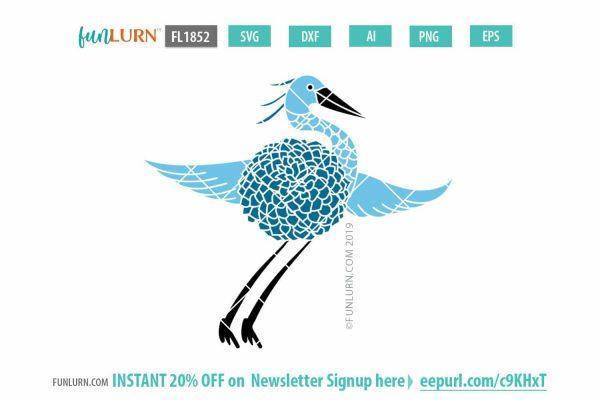 Blue Heron svg