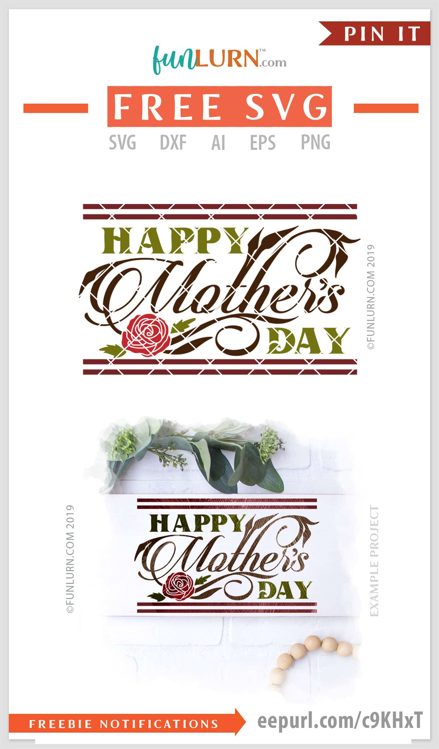 Free Purple mothers day warm hand painted svg flower art word. Happy Mother S Day Svg Funlurn SVG, PNG, EPS, DXF File