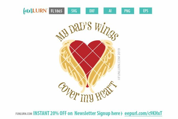 My Dad's wings cover my heart