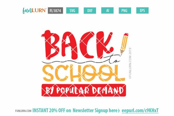 back to school by popular demand