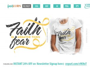 Spina Bifida svg - Faith is greater than fear