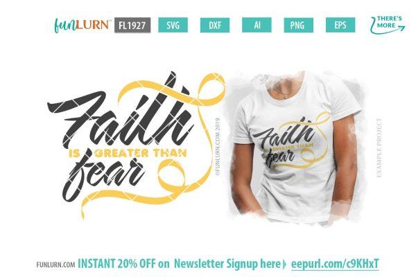 Spina Bifida svg - Faith is greater than fear