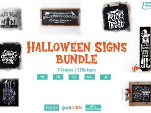 Halloween signs bundle