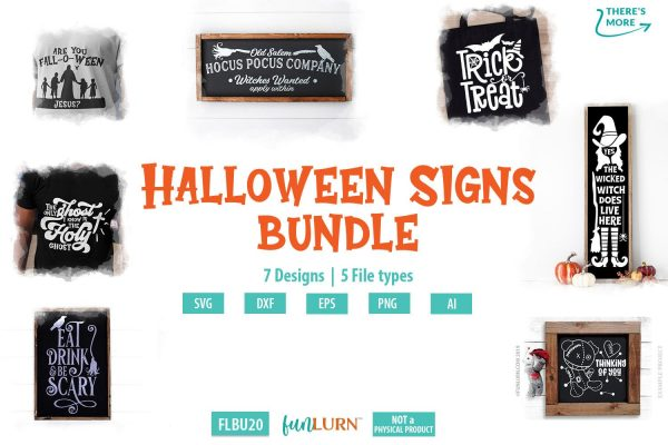 Halloween signs bundle