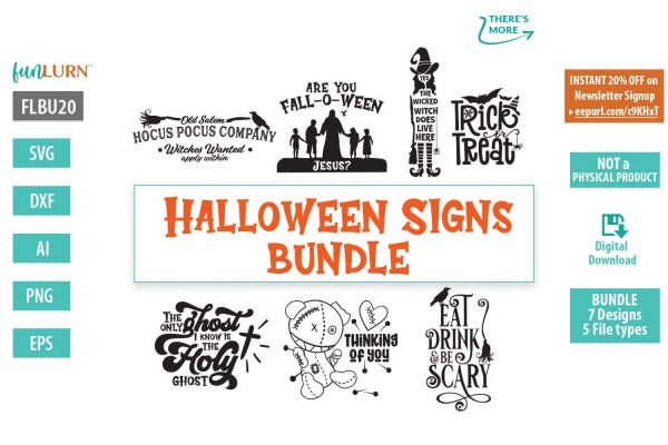 Halloween signs svg bundle