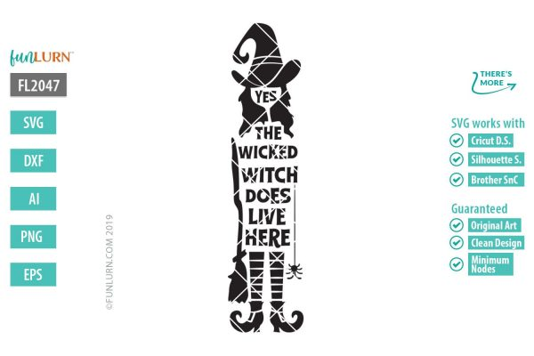 yes the wicked witch does live here svg