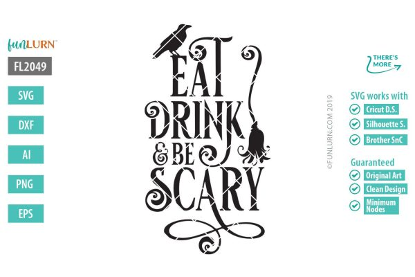 eat drink and be scary svg