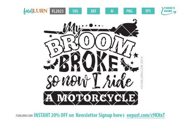 My broom broke so now I ride a motorcycle