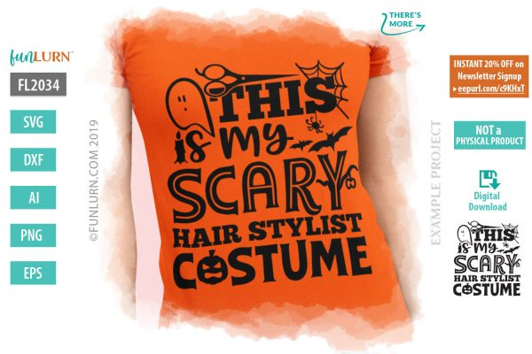 This is my scary hairstylist costume